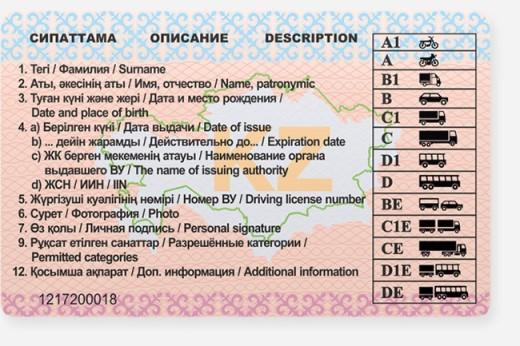 Виды категорий водительских удостоверений