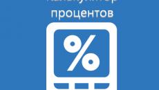 Онлайн калькулятор процентов