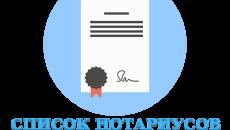 Список нотариусов