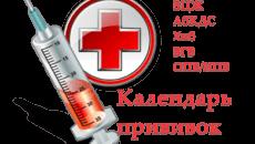 Календарь прививок в Казахстане
