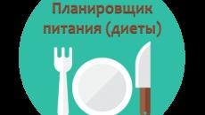 Планировщик питания (диеты)